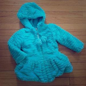 Widgeon 4T Ice Blue Fuzzy Zip hooded warm Jacket